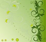Floral  background - vector. Floral  background - abstract, art vector Stock Photo