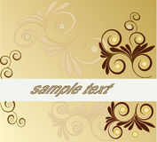 Floral background  Vector. Flower abstract beauty frame background - vector Royalty Free Stock Photography