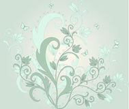 Floral  background - vector. Floral background with frame - vector Stock Image