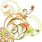 Floral background, vector stock illustration