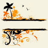 Floral background vector. Abstarct tropical and floral background stock illustration