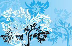 Floral background, vector royalty free illustration