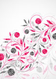 Floral background, vector abstract background Stock Photo