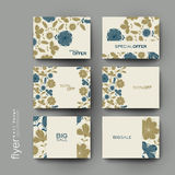 Floral background vector brochure template. Flyer Royalty Free Stock Photography