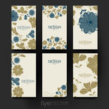 Floral background vector brochure template. Flyer Royalty Free Stock Photo