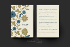 Floral background vector brochure template. Flyer Layout Royalty Free Stock Photos
