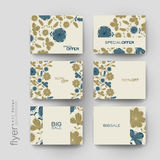 Floral background vector brochure template. Flyer Layout Stock Images