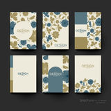 Floral background vector brochure template. Flyer Layout Stock Photography