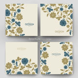 Floral background vector brochure template. Flyer Layout Royalty Free Stock Images
