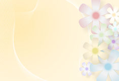 Floral background. Vector Floral Background With Copy Space, Eps10 Vector, Gradient Mesh and Transparency used Stock Images