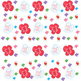 Floral background vector with decorative spring flowers Royalty Free Stock Photos