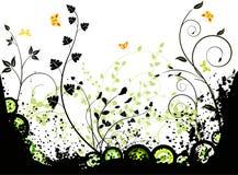 Floral  background  vector design Stock Image