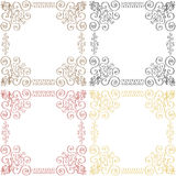 Floral background. Vector floral background in different color Royalty Free Stock Photos