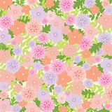 Pink and Lilac Floral Background - vector eps10 illustration. Floral Background - vector eps10 illustration, wallpaper, pattern, decoration, spring Royalty Free Stock Photo