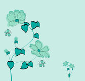 Floral background. In vector format stock illustration