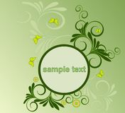 Floral background. Vector illu Stock Image