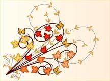 Floral Background - vector illustration. Floral Background Autumn Leaves- vector illustration vector illustration