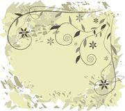 Floral background - vector illustration Stock Photo