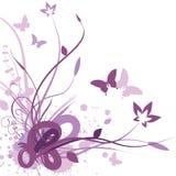 Floral background, vector illustration. Vector illustration of Floral background in violet royalty free illustration