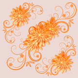 Floral background. vector illustration Stock Photos