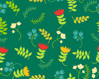 Floral background. Vector seamless pattern Royalty Free Stock Image