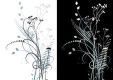 Floral background, vector - set Stock Photography