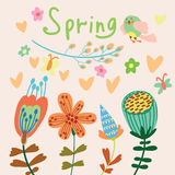 Floral background in vector Stock Images