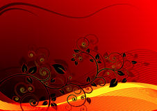 Floral background vector with wave. Beautiful floral with wave background vector designed for your background Stock Image