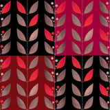 Floral background vertical branches seamless pattern Royalty Free Stock Images