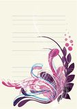 Floral background in vibrant blue and deep purple Royalty Free Stock Photos