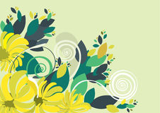 Floral background in vibrant colorful shades Stock Photo