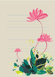 Floral background in vibrant colorful shades Stock Photos