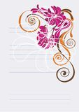 Floral background in vibrant pink and orange Royalty Free Stock Photos