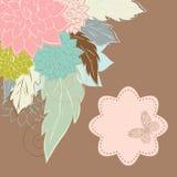 Floral background. Vintage Flower Background, vintage card Royalty Free Stock Photos