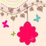 Floral background. Vintage Flower Background, vintage card Stock Image