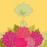 Floral background. Vintage Flower Background, vintage card Stock Images