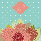 Floral background. Vintage Flower Background, vintage card Stock Photos