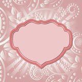 Floral background. With vintage frame Royalty Free Stock Photography