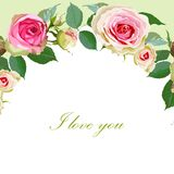 Floral Background with Vintage Label. Royalty Free Stock Images