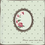 Floral background. Vintage floral background with roses Royalty Free Stock Photography