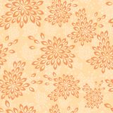 Floral background in vintage style. Seamless pattern with flowers. Floral orange background in vintage style. Seamless pattern with flowers royalty free illustration