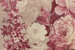 Floral background Wallpaper on the wall.  royalty free stock image