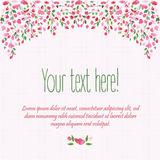 Floral background. Watercolor floral blossom bush. Wedding card. Floral decorative frame. Spring time. royalty free illustration