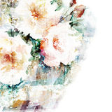 Floral background. Watercolor floral bouquet. Birt. Gentle watercolor background. Abstract art illustration Stock Photography