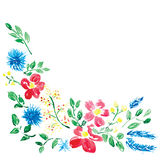 Floral background with watercolor flowers Stock Photos