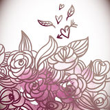 Floral Background,Wedding Card Royalty Free Stock Photo