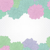 Floral background. Wedding card or invitation with dahlia flowers Stock Photos