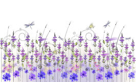 Floral background of wildflowers. Floral background of lavender wildflowers Stock Photography