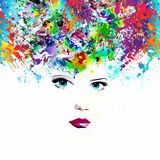 Floral background with woman face Royalty Free Stock Photo
