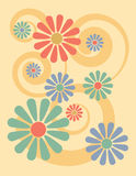 Floral Background_Yellow vector illustration
